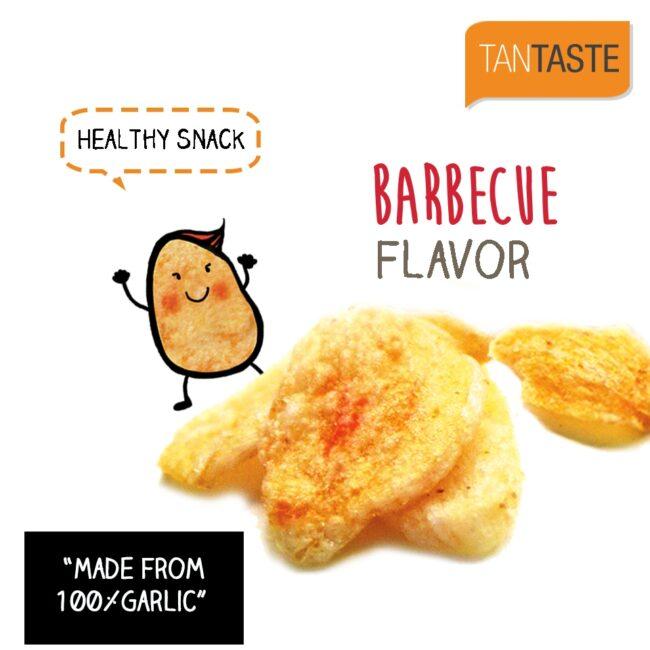 MySnack Küüslaugukrõps BBQ 20g - Tan Taste Vacuum Fired Garlic Chips Barbecue (product inside)