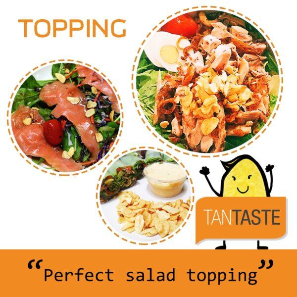 20g - Tan Taste Vacuum Fried Garlic Chips Black Pepper
