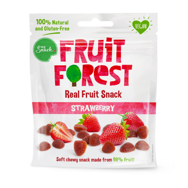 MySnack Naturaalne Maasikamaius 30g - Fruit Forest Real Fruit Snack Strawberry (package front)