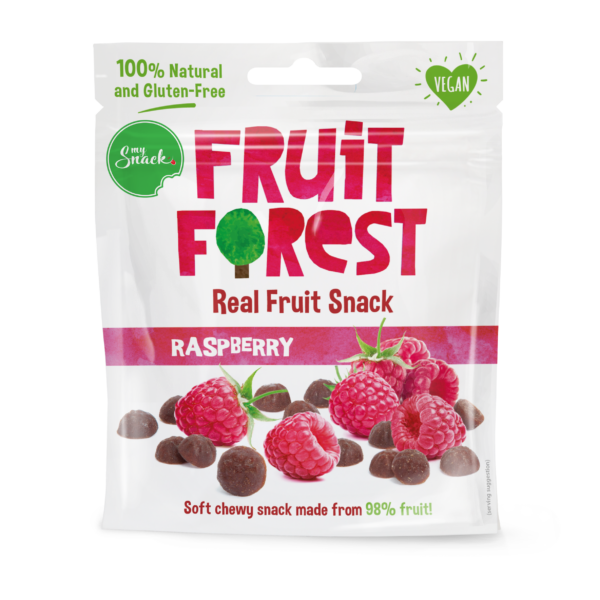 30g - Fruit Forest Real Fruit Snack Raspberry (package front)