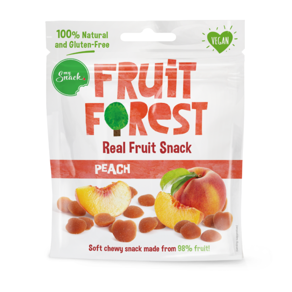MySnack Naturaalne Virsikumaius 30g - Fruit Forest Real Fruit Snack Peach (package front)