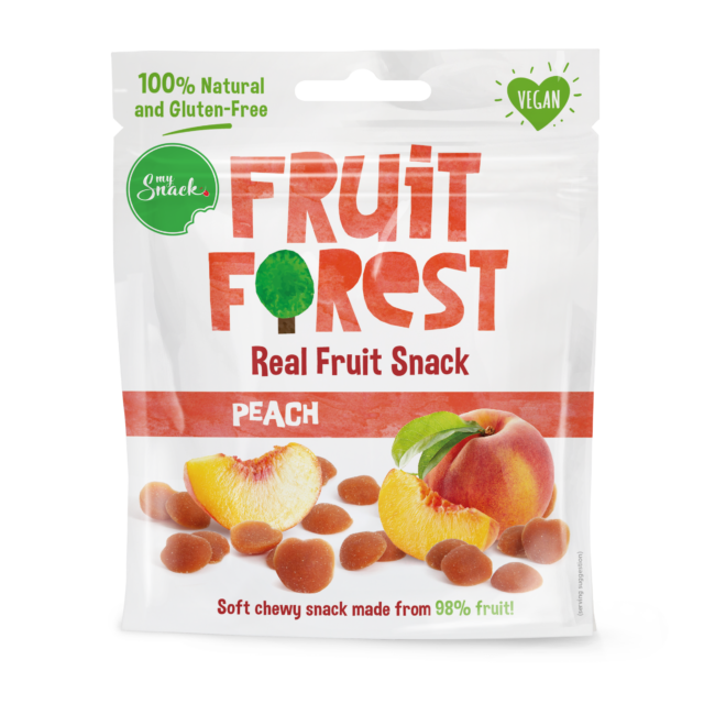 30g - Fruit Forest Real Fruit Snack Peach (package front)