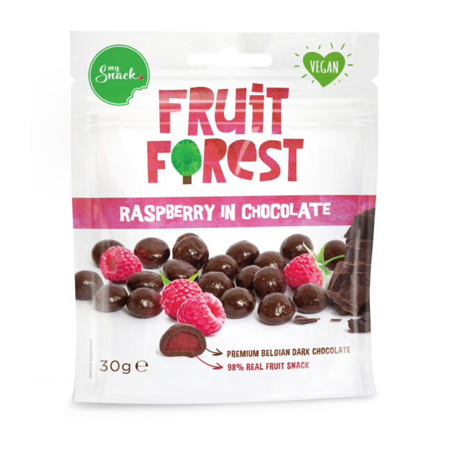 30g - Fruit Forest Raspberry In Chocolate (package front)