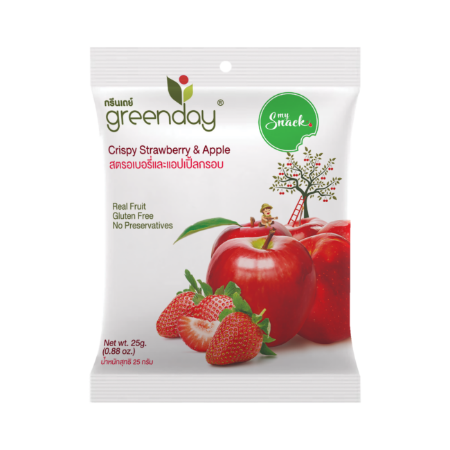 MySnack Crispy Strawberry and Apple 25g