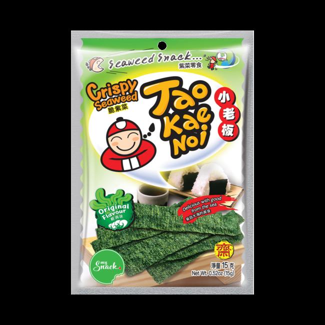 MySnack Merevetikas Originaal 15g - Tao Kae Noi Crispy Seaweed Snack Original Flavour (package front)