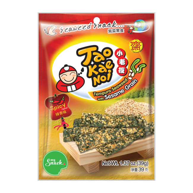 MySnack Seaweed Snack with Sesame Spicy 39g