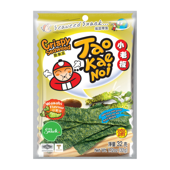 MySnack Seaweed Snack with Wasabi 32g