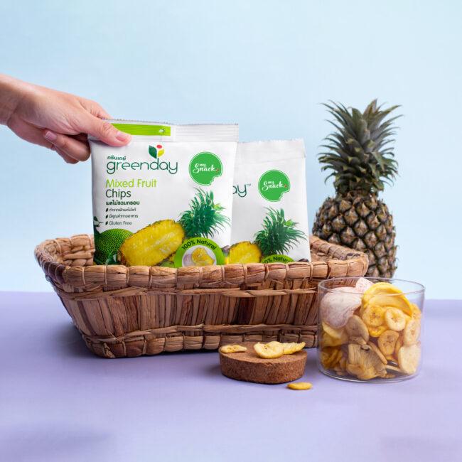 MySnack mixed fruit chips 55g