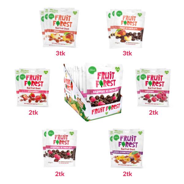MySnack Natural Fruit Snacks Combo 14 x 30g